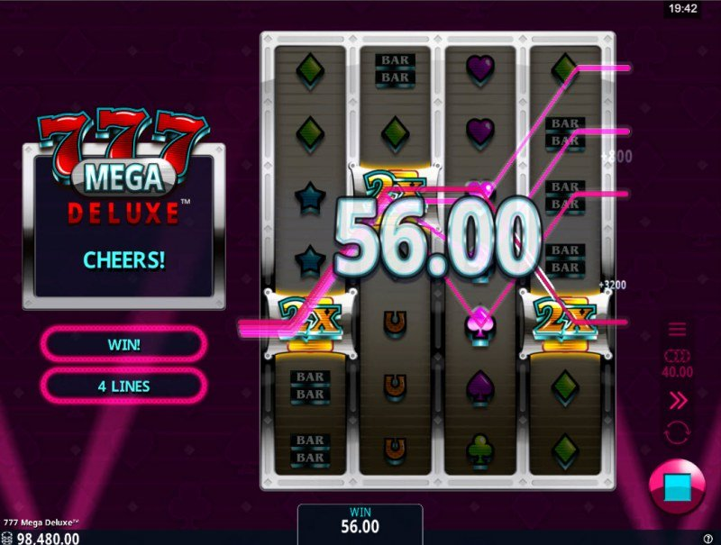 777 Mega Deluxe :: Free Spins Game Board