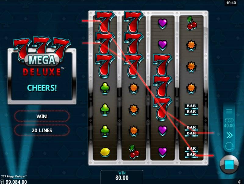 777 Mega Deluxe :: Multiple winning combinations