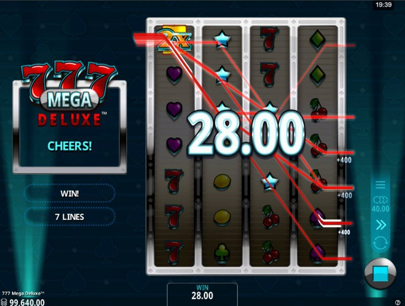 777 Mega Deluxe :: Multiple winning paylines