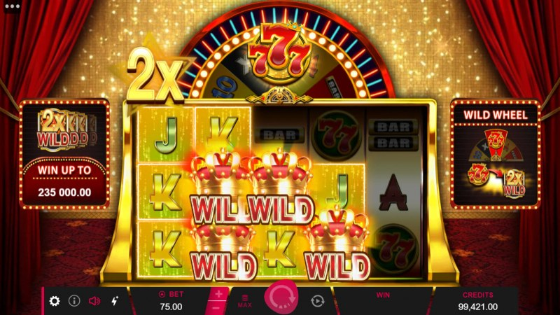 777 Royal Wheel :: Multiple winning combinations lead to a big win