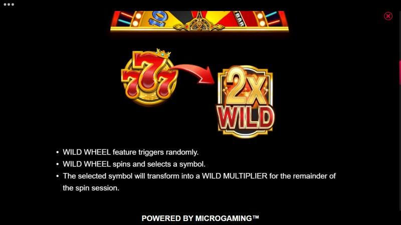 777 Royal Wheel :: Wild Wheel Feature