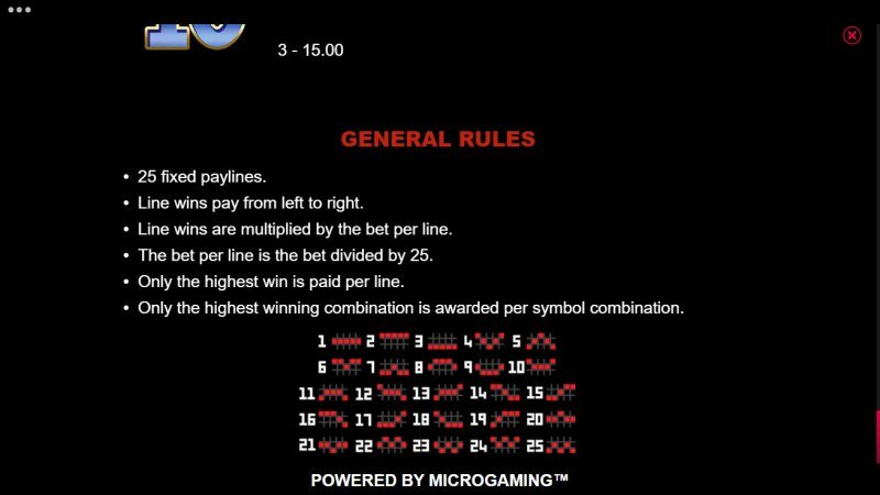 777 Royal Wheel :: General Game Rules
