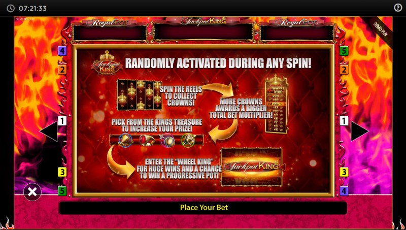 7's Deluxe Jackpot King :: Jackpot Rules