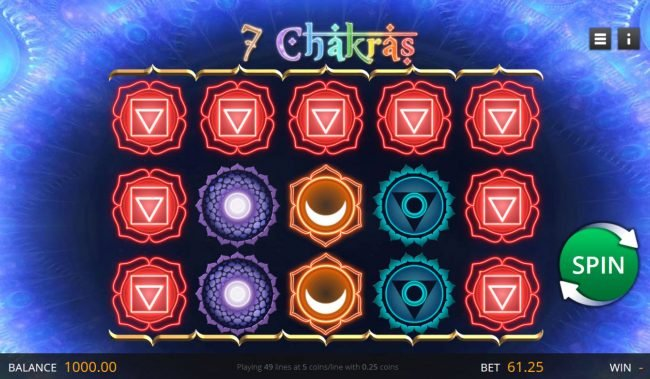 Play slots at Jupiter Club: Jupiter Club featuring the Video Slots 7 Chakras with a maximum payout of $12,250
