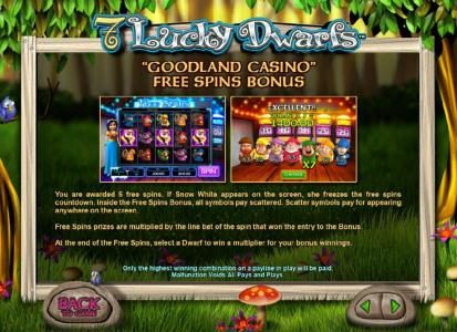 how to play the goodland casino free spins bonus feature