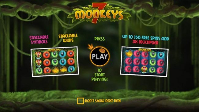 Spiral featuring the Video Slots 7 Monkeys with a maximum payout of $7,500