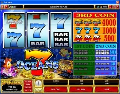Play slots at Vegas Joker: Vegas Joker featuring the Video Slots 7 Oceans with a maximum payout of $60,000