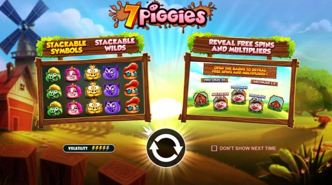 Win Paradise featuring the Video Slots 7 Piggies with a maximum payout of $52,500