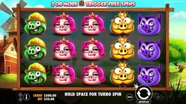 Karamba featuring the Video Slots 7 Piggies with a maximum payout of $52,500