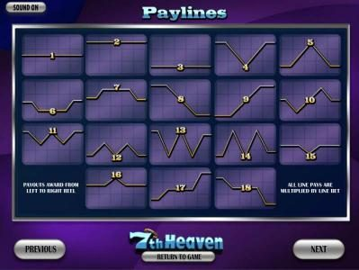 Enzo Casino featuring the Video Slots 7th Heaven with a maximum payout of 7500x