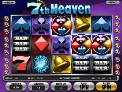 Malina featuring the Video Slots 7th Heaven with a maximum payout of 7500x
