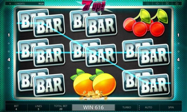 Crypto Wild featuring the Video Slots 7UP! with a maximum payout of $100,000