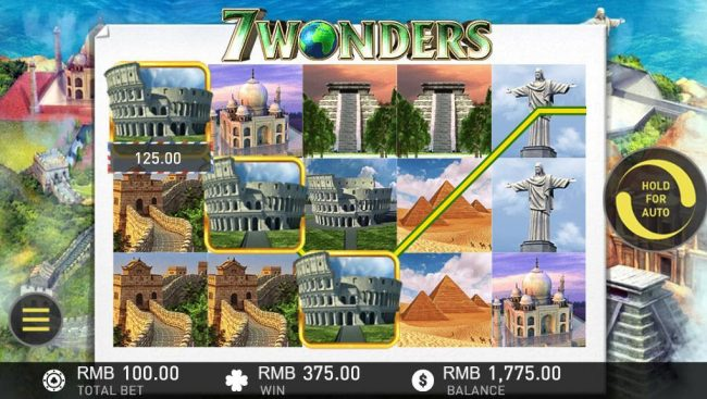 7 Wonders :: Multiple winning paylines