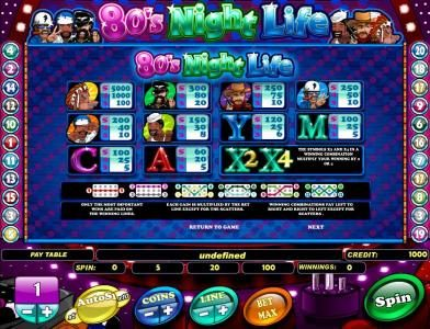 Viggoslots featuring the Video Slots 80's Night Life with a maximum payout of $100,000