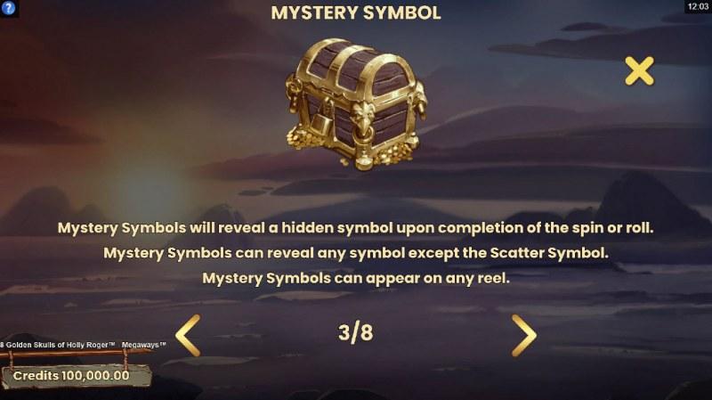 8 Golden Skulls of Jolly Roger Megaways :: Mystery Feature