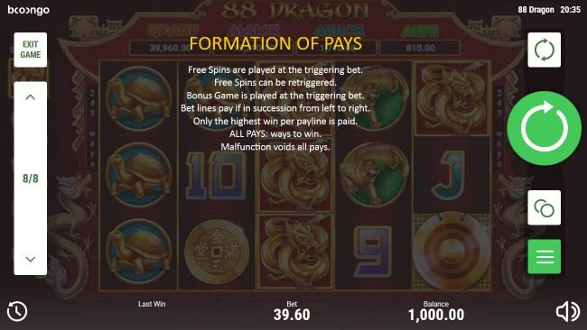 88 Dragon :: Formation Pays