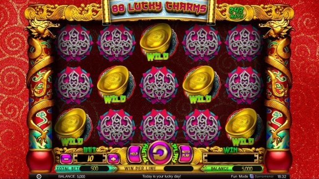 ZigZag777 featuring the Video Slots 88 Lucky Charms with a maximum payout of $300,000