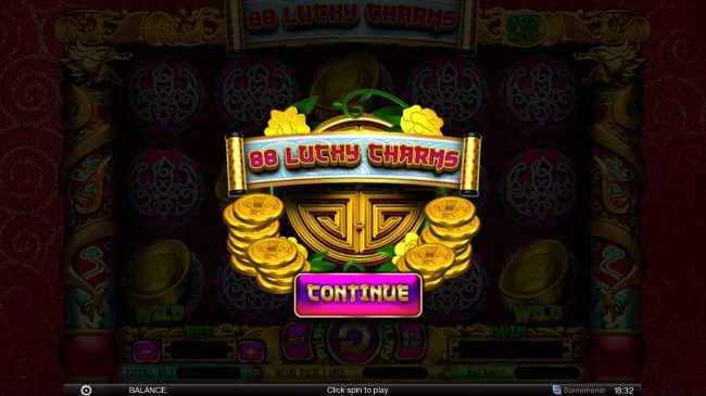 Play slots at CryptoWild: CryptoWild featuring the Video Slots 88 Lucky Charms with a maximum payout of $300,000
