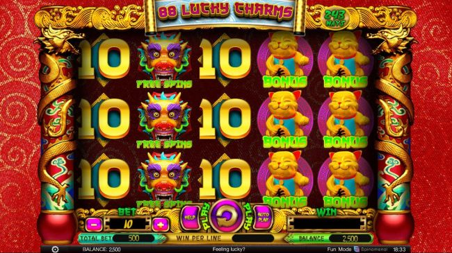 Play slots at Superior: Superior featuring the Video Slots 88 Lucky Charms with a maximum payout of $300,000