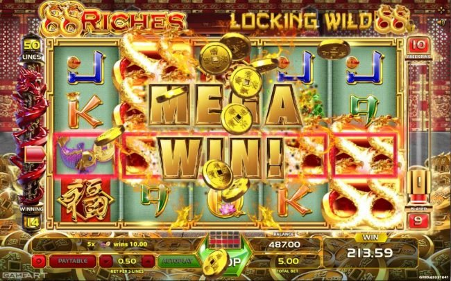 Lord of the Spins featuring the Video Slots 88 Riches with a maximum payout of $5,000