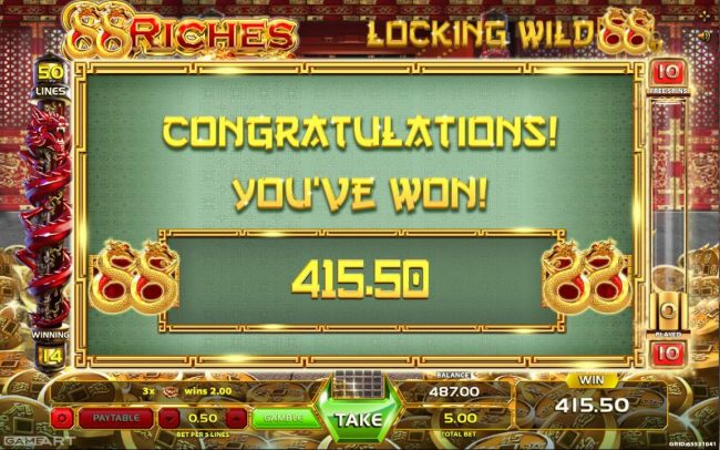 Magik Slots featuring the Video Slots 88 Riches with a maximum payout of $5,000