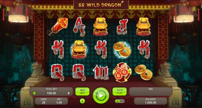 Play slots at Betflip Casino: Betflip Casino featuring the Video Slots 88 Wild Dragon with a maximum payout of $5,000