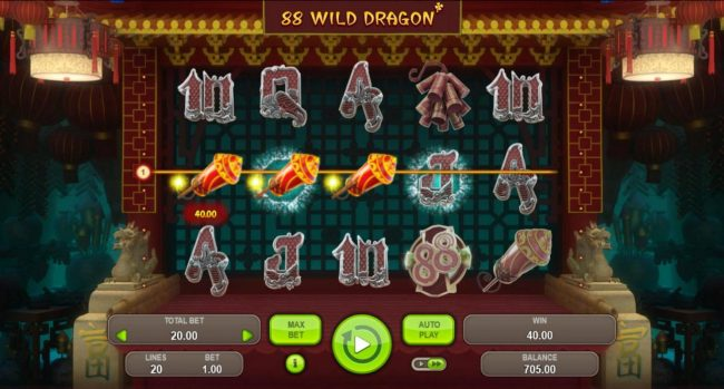 88 Wild Dragon :: A winning Three of a Kind.