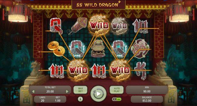 88 Wild Dragon :: Multiple winning paylines