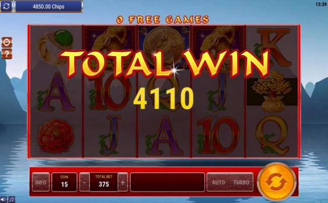 Free Games pays a whopping 4110 coins for an awesome win.