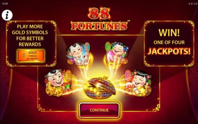 Play more gold symbols for better rewards. Win one of four jackpots!