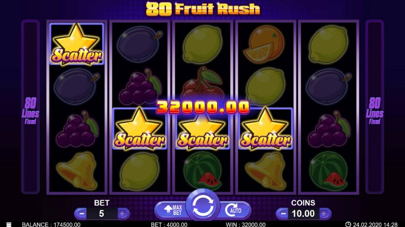 80 Fruit Rush :: Scatter Win