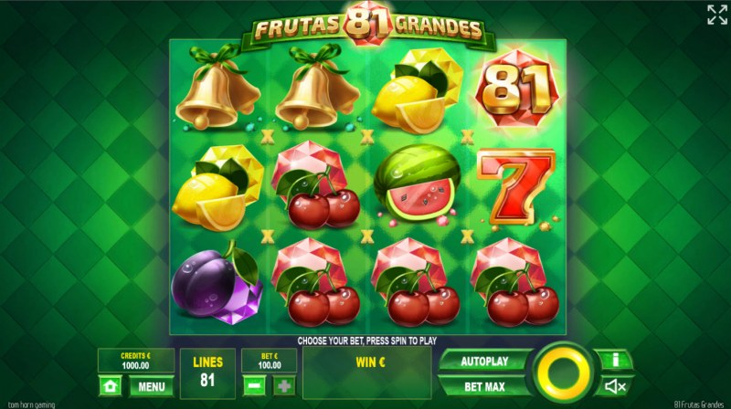 81 Frutas Grandes :: Base Game Screen