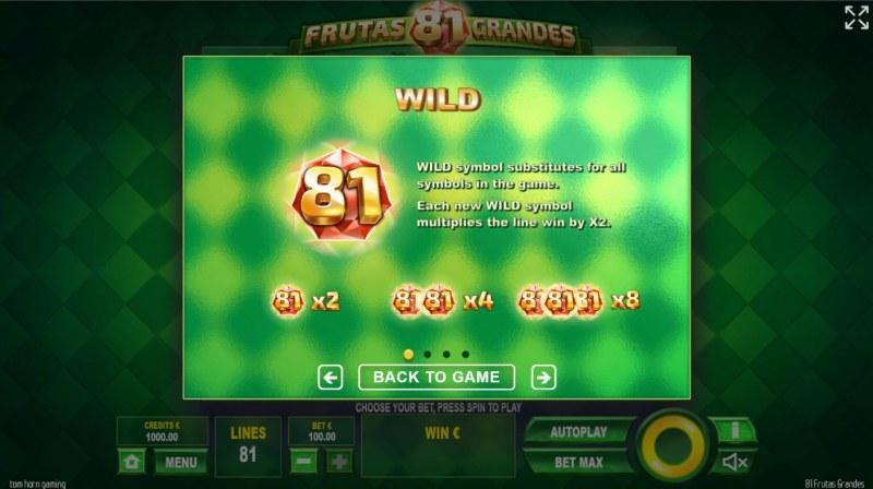 81 Frutas Grandes :: Wild Symbol Rules