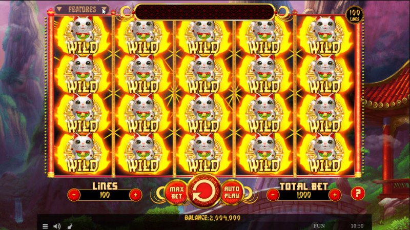 88 Fortune Cats :: Multiple winning combinations leads to a big win