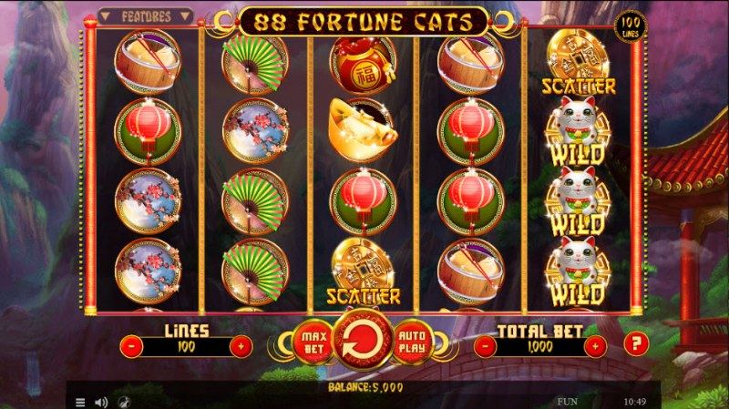 88 Fortune Cats :: Main Game Board