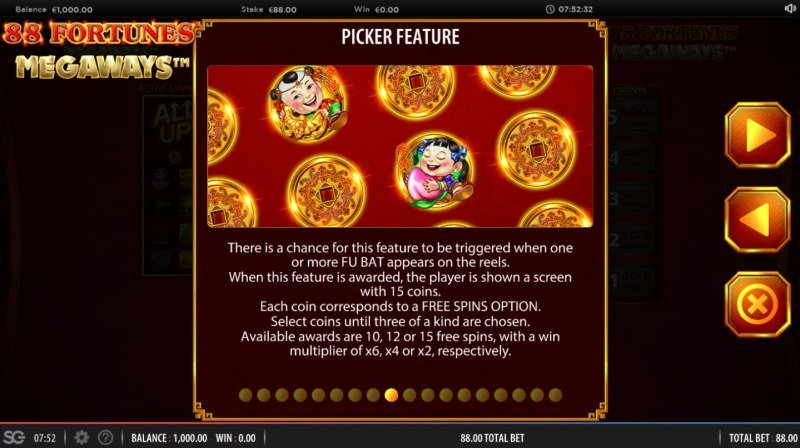 88 fortunes Megaways :: Picker Feature