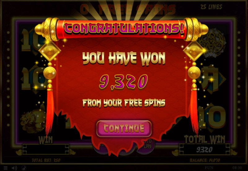 88 Lucky Fortunes :: Total free spins payout