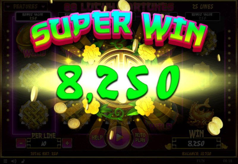 88 Lucky Fortunes :: Super Win