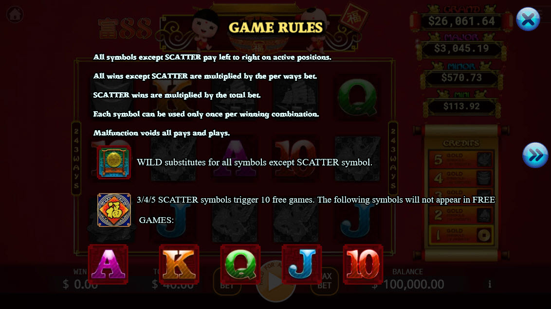 88 Riches :: Wild and Scatter Rules