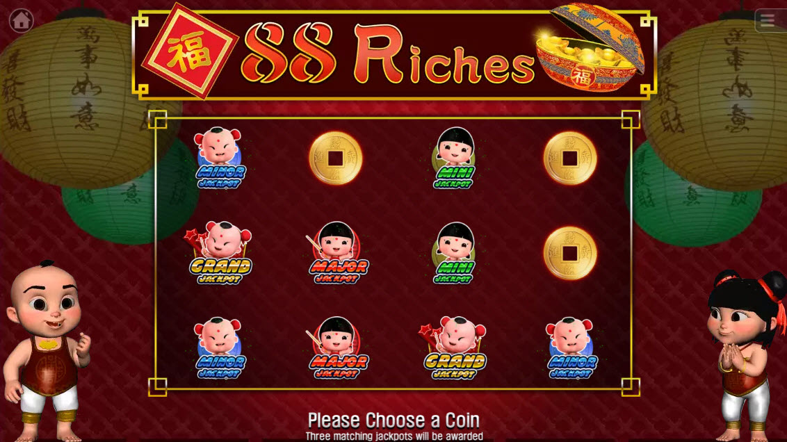 88 Riches :: Match three similiar symbols and win that jackpot