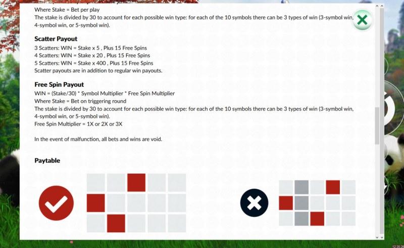 888 Panda :: General Game Rules