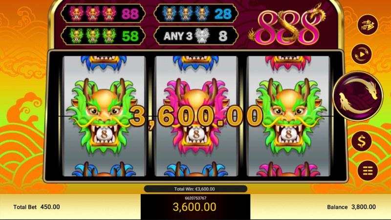 888 :: Any three pays