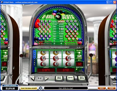 Vernons featuring the Video Slots 8-Ball Slots with a maximum payout of $400,000