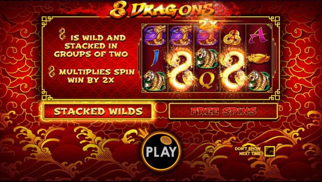 Play slots at CryptoWild: CryptoWild featuring the Video Slots 8 Dragons with a maximum payout of $25,000