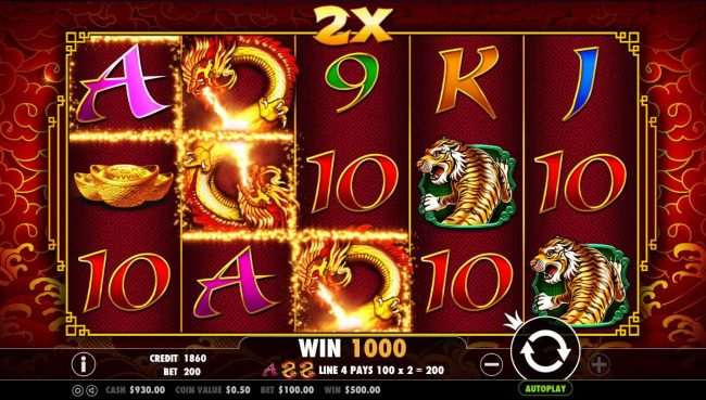Crystal Casino Club featuring the Video Slots 8 Dragons with a maximum payout of $25,000