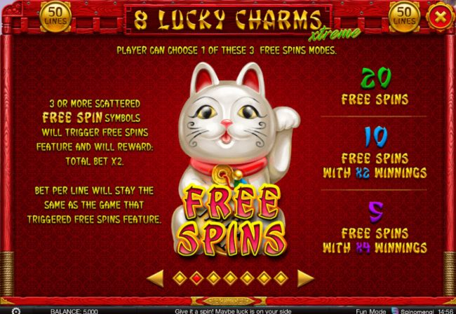 Superior featuring the Video Slots 8 Lucky Charms Xtreme with a maximum payout of $200,000