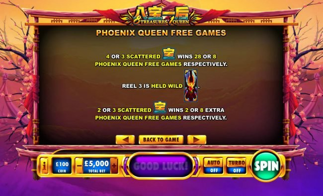 8 Treasures 1 Queen :: Phoenix Queen Free Games