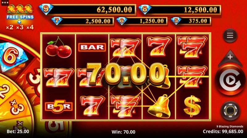 9 Blazing Diamonds :: Multiple winning paylines