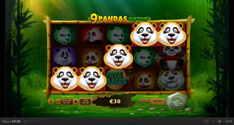 9 Pandas On Top :: A five of a kind win