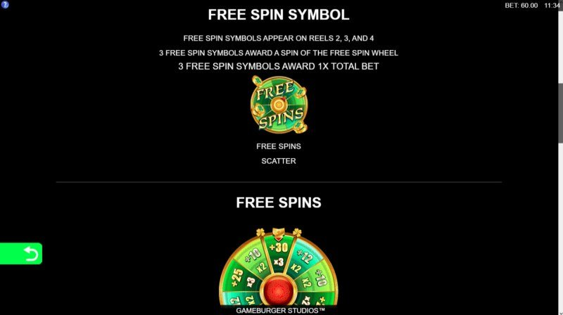 9 Pots of Gold :: Free Spins Rules